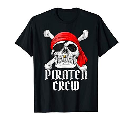 Piraten Crew T-SHIRT Mottoparty Kostüm Fastnacht Fasching