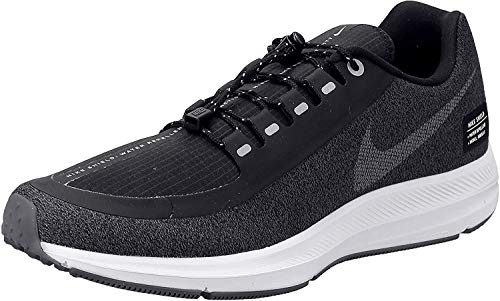 Nike Damen Zm Winflo 5 Run Shield Laufschuhe, Mehrfarbig (Black/Metallic Silver/Cool Grey 001), 39 EU