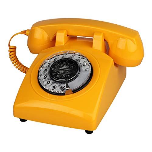 ZARTPMO TeléFono Antiguo Continental Retro Home Office TeléFono Fijo Dial Giratorio Sala De Estar Dormitorio TeléFono Fijo