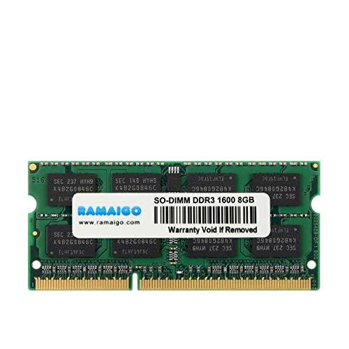 GUOJIAYI Memoria RAM DDR3 de 8 GB 1600 MHz 1333 MHz 1,5 V PC3L-12800 204 pines 1,35 V CL11 SODIMM para ordenador portátil iMac