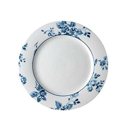Laura Ashley - Plato de postre – China Rose – azul/blanco – Ø 23 cm – New Bone China porcelana