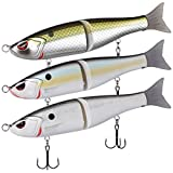 BASSDASH Swimbaits Pike Trout Glide Baits Minnow Hard Bass Fishing Lure 7in 7.2in 8in (SwimShad Glide Bait 7in/2.2oz - Pack of 3 Colors (BTW))
