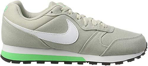Nike Wmns MD Runner 2, Zapatillas Mujer, Gris (Pale Grey/Electro Green/White), 35.5 EU