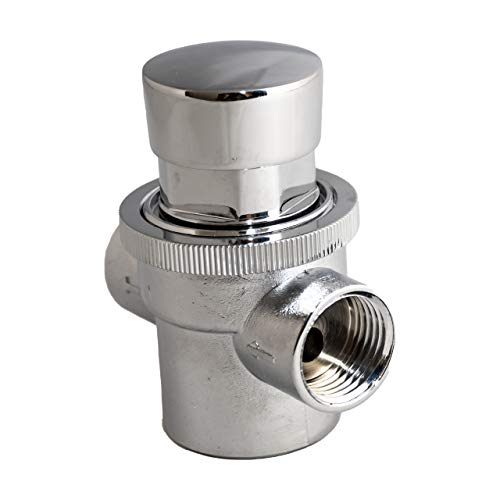 Grifo pulsador con temporizador cromado para lavabo automático. Uso en hostelería e industria.