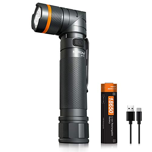 Rechargeable Flashlight,1200 High lumens Magnetic LED Flashlights,White/Red/Green lights Tactical Flashlight,2600mah 18650 Battery Included Type-C Charging,90 Degree Twist,IP65 Waterproof Outdoor Gear