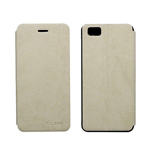 Tasche für Ulefone Future Hülle, Ycloud PU Ledertasche Metal Smartphone Flip Cover Hülle Handyhülle mit Stand Function Weiß