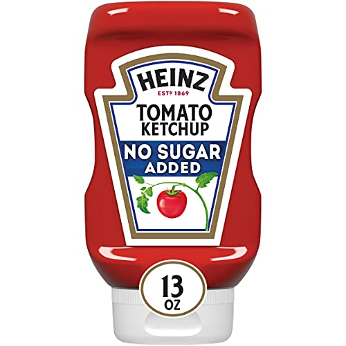 Heinz Tomato Ketchup with No Sugar Added (6 ct Pack, 13 oz Bottles)