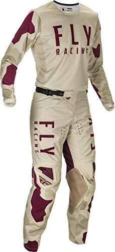 "Fly Racing 2021 Kinetic K221 Motocross Gear Combination (Stone/Berry, Adult Medium Jersey/Adult 30"" Waist Pant)"