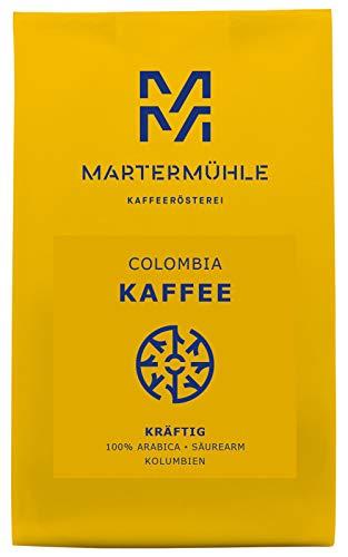 Martermühle | Kaffee Colombia (1kg) | Ganze Bohnen | Premium Kaffeebohnen aus Kolumbien | Schonend geröstet | Kaffee säurearm | 100% Arabica