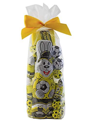 Borussia Dortmund Pasen chocolade pakket - mixzak - chocolade, chocoladebollen, Paashaas BVB 09 Plus stickers Wij houden van voetbal