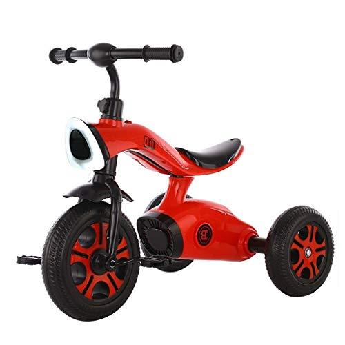 Find Discount Children's Tricycle Children Trike Kid Stroller Trike Beginner 2 in 1 Tricycles 2-6 Ye...