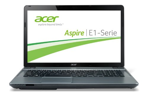 Acer Aspire E1-731-20204G75Mnii 43,9 cm (17,3 Zoll) Notebook (Intel Pentium 2020M, 2,4GHz, 4GB RAM, 750GB HDD, Intel HD, DVD, Win 8) grau