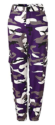 HX fashion Dames Camouflage Broek Vintage Losse Comfortabele Maten Sportbroek Elegante Jonge Mode Beweging Fitness Leger Training Hoge Taille Broek Joggingbroek Casual Broek