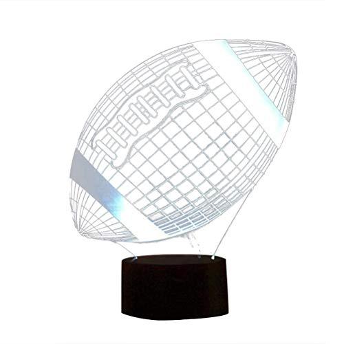 Uonlytech - Lámpara de Mesa 3D LED, acrílico, con Interruptor táctil, para el Dormitorio, la casa, sin Pilas (Motocicleta)