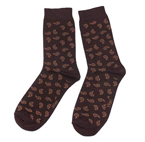 Weri Spezials Funny Damen Socken mit lustigen modischen Designs! In mehreren Mustern- & Farbvariationen! (39-42, Schoko Paisley)