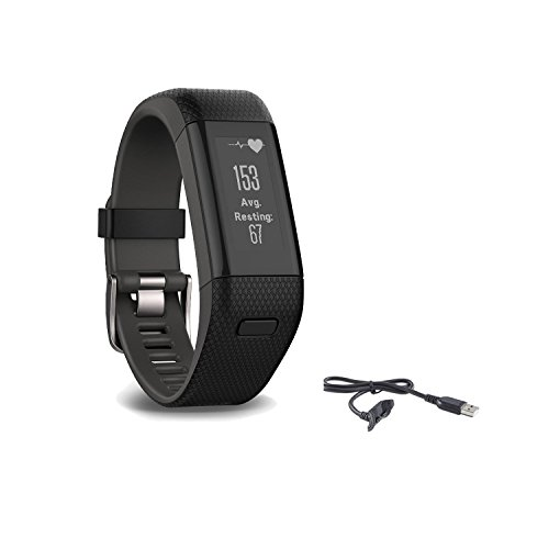 Garmin Vivosmart HR Plus Activity Tracker, Regular Fit,...