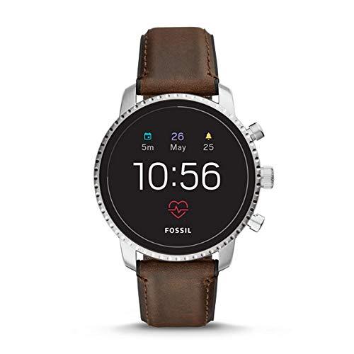 Fossil FTW4015 Digitaal smartwatch polshorloge met lederen armband
