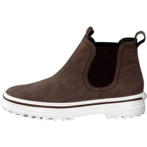 Paul Green Damen Chelsea-Boots, Frauen Stiefeletten, Ladies feminin elegant Women's Women Woman Freizeit leger Stiefel Bootie,Braun,6.5 UK / 40 EU