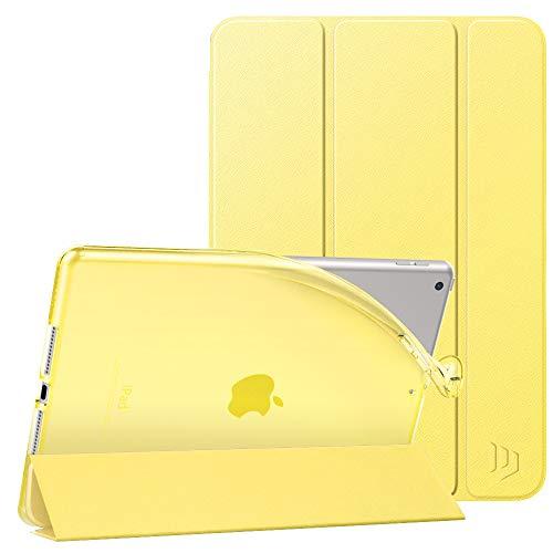 iPad 10.2 ケース 2021/2020/2019 Dadanism 第9世代/第8世代/第7世代 Apple iPad 10.2インチ 2021/2020/2019モデル カバー スタンドケース オートスリープ機能 軽量 薄型 PU+TPU マイクロファイバー裏地 耐久性 New iPad 9 ケース イェロー