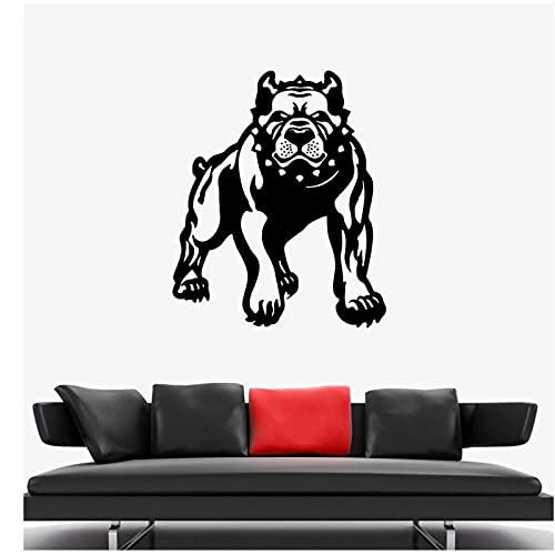 WYLYSD Aplikacja Ścienna Zły Zły Pies Buldog Bestia Zwierzę Naklejka Salon Dekoracja Sypialni Naklejka Ścienna Ze Zwierzęciem 57X69Cm