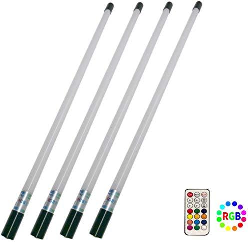 Paquete de 4 Luces de Tubo de Video LED portátiles y con Pilas, Control Remoto y Recargables para DJ, en Vivo, fotografía, autofoto y Escenario