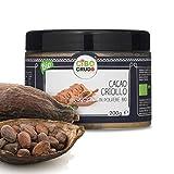CiboCrudo Cacao in Polvere- 200 gr - Cacao Powder, Biologico Naturale e Puro al 100%, Fave di Cacao Criollo, Ricco di Minerali e Vitamine
