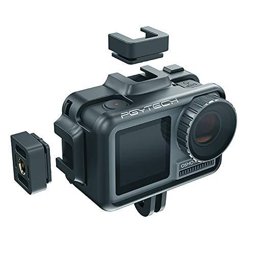 Penivo Cage de caméra de Sport Shell Housing Frame pour DJI Osmo Action Caméra Support Vlog Housse Étui de Protection Case Couverture Accessoires