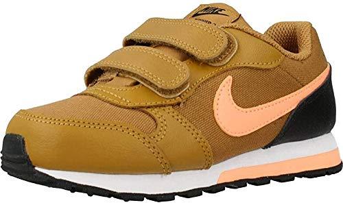 Nike MD Runner 2 (PSV), Zapatillas Unisex Niños, Trigo/Naranja Pulso-Negro-Blanco, 31 EU