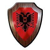 Albanien Tirana Edi Rama Albanisch Republik Balkan Flagge Wandschild #27289