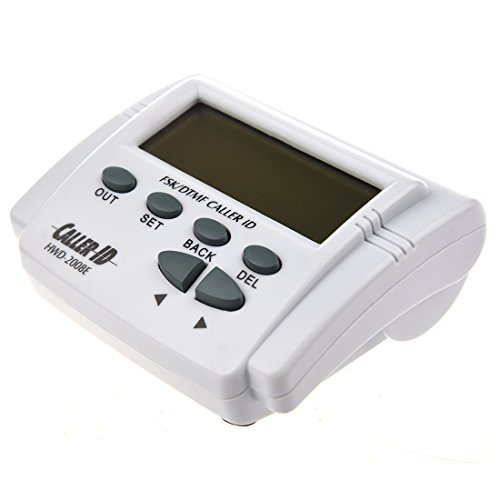 Display - SODIAL(R) White handset Display DTMF FSK Caller ID Box with Call History