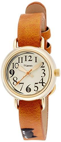 [フィールドワーク] 腕時計 フィールドワーク アナログ ジロ ネコ 革ベルト FSC095-4 レディース オレンジ