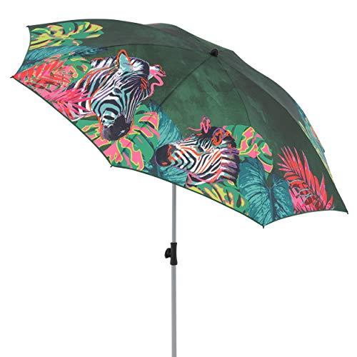 Doppler GS Basic 200 - Sonnenschirm für Balkon oder Garten - Regenabweisend - Knickbar - ca. 200 cm - Zebra