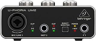 "BEHRINGER Audio Interface 1x XLR/TRS 1x 1/4"" 2X RCA USB, Black 1-Channel UM2"