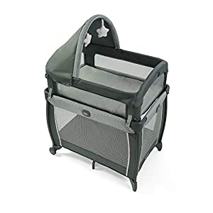 Graco My View 4 in Baby Bassinet with 4 Stages Including Raised Bassinet at Eye Level, Montana