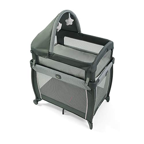 Read About Graco My View 4 in 1 Bassinet | Baby Bassinet with 4 Stages, Including Raised Bassinet at...
