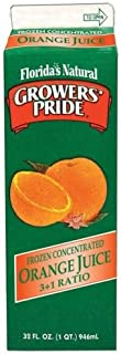 Growers Pride Orange Foodservice Label Only Juice, 32 ounce -- 12 per case