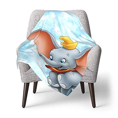 Hdadwy Dumbo - Manta linda para bebé o manta mullida para niños, manta unisex para cuna, sofá, silla, sala de estar, viaje, súper suave y cálida, manta para niños