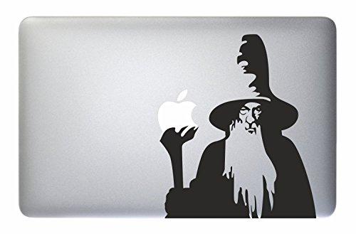 Pegatina Macbook Mago--El Señor de los Anillos, Gandalf– Pegatina de vinilo para portátil Apple Macbook Mac Pro AIR Retina, 33, 38y 43 cm. Pegatinas de Frodo para cubierta  (28–33 cm, MacBook)