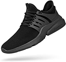 Feetmat Men's Non Slip Work Shoes Lightweight Breathable Athletic Running Walking Tennis Gym Shoes Black 11 M
