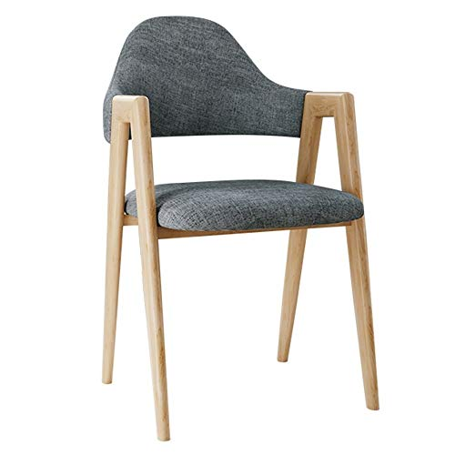 MXSXO Leisure Chairs Modern Design Dining Chairs Wooden Style Sturdy Metal Legs Dining Kitchen Fabric Dining Chairs Ergonomic design Ventilate Fabric Cushion armchair Bearing weight 120kg