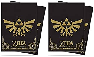 ACS Pacific Supply 130 Ultra Pro The Legend of Zelda Black & Gold Deck Protectors Sleeves (2-Pack Bundle) Standard Size