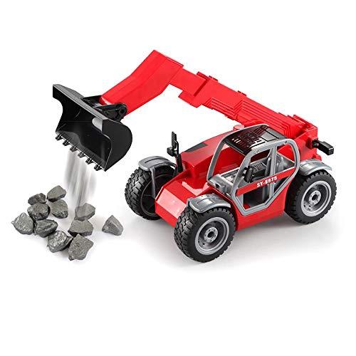 Tbaobei-Baby Modelo de Auto Cargando RC Car telescópica Elevadoras Modelo de vehículo Juguetes for Regalo de los niños Carros de Juguete (Color : Red, Size : One Size)