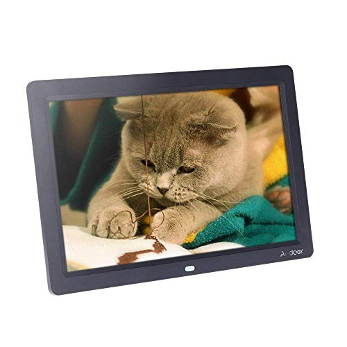 Andoer 12 inch Digital Photo Frame HD TFT-LCD 1280 x 800 Full-View Alarm Clock MP3 MP4 Movie Player with Remote Desktop Gift