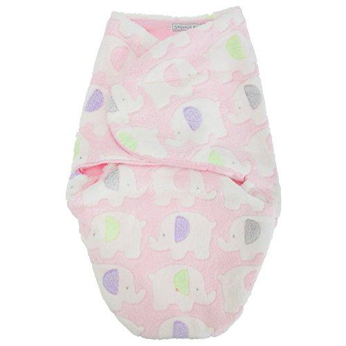Sac d'emmaillotage en polaire - Bébé garçon ou fille (Jusqu'à 3 mois) (Rose)