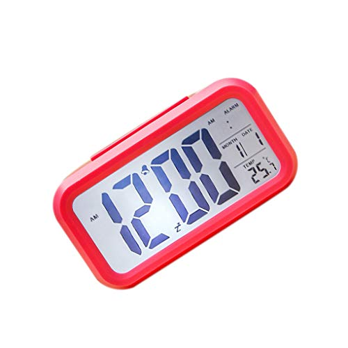 Floridivy Smart Alarm Klok Multi Functie kleine klok Elektronische Student Mute LCD Slaapkamer Lichtgevende Eenvoudige Digitale Kleine Klok