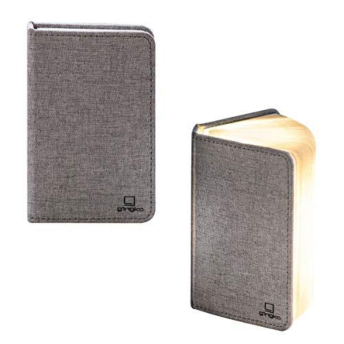 Gingko LED Mini Smart Book Schreibtischlampe mit Naturholz-Effekt, wiederaufladbar mit Micro-USB-Ladegerät, verschiedene Farben Modern Urban Grey