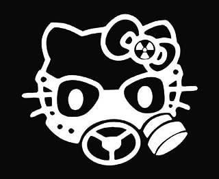 Blacklite Outline gas Mask Hello Kitty Car Window Wall Macbook Notebook Laptop Sticker Decal
