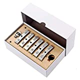 QWERTOUR Gitarrenreparaturwerkzeug einfügt Musikinstrumentenzubehör für E-Gitarre Silber 13pcs Drücken Sie Caul-Einsatz