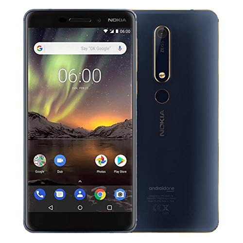 Nokia 6.1 Dual SIM Blu Scuro/Oro 6.1 TA-1043 DS 4/64 CEE PL B Blue