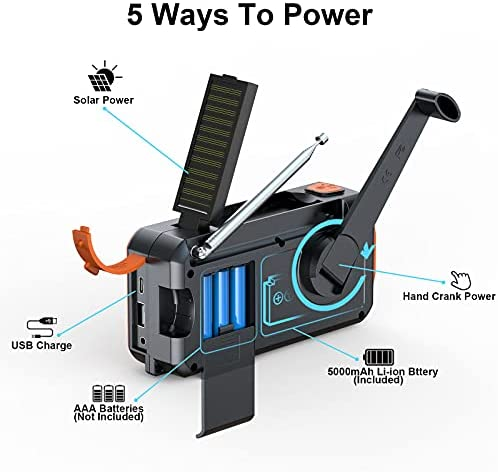 Portable Solar Hand Crank Radio